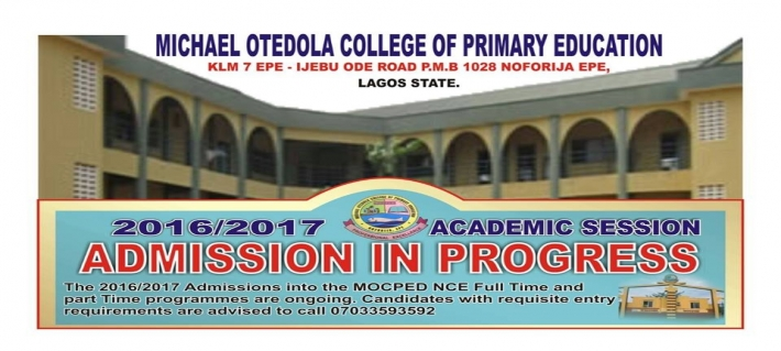 2016/2017 ACADEMIC SESSION ADMISSION IN PROGRESS