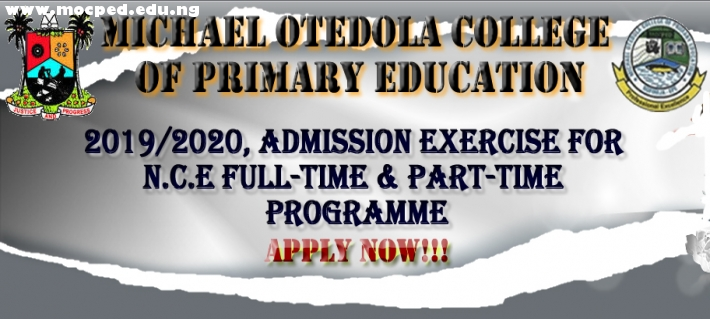 ADMISSION INTO NCE FULL-TIME & PART-TIME PROGRAMMES FOR THE 2019/2020 ACADEMIC SESSION