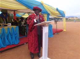 The Provost addressing the matriculating student