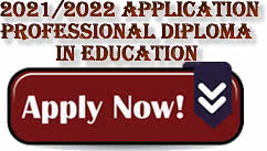 POST GRADUATE DIPLOMA IN EDUCATION PORTAL